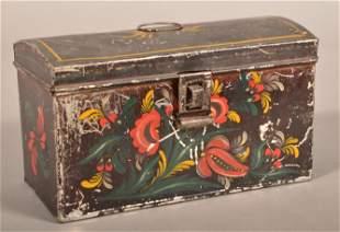 Pennsylvania 19th Century Toleware Document Box.