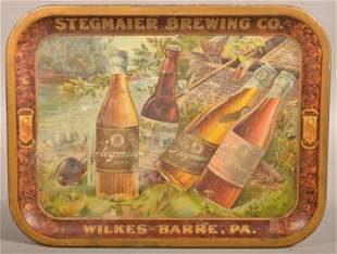 Stegmaier Brewing Co. Tin Lithograph Advertising Tray.