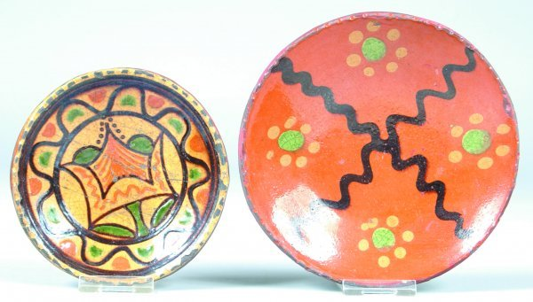 15: Two Greg Shooner Small Redware Plates, 1st is 2002