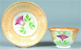 507: Two Various Pieces of Yellow Spatterware China, Th