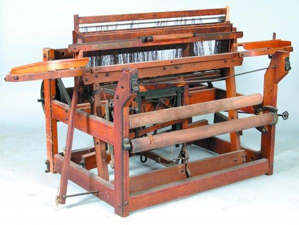 "815: Carpet Loom signed ""The Newcomb Loom Co., Davenpor"