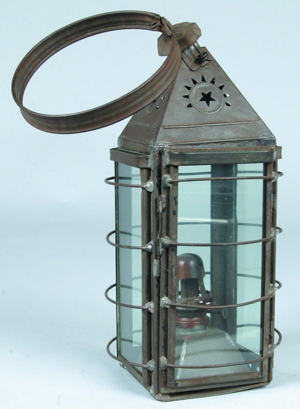 "11: Tin All Purpose Kerosene Lantern marked ""Parker's P"