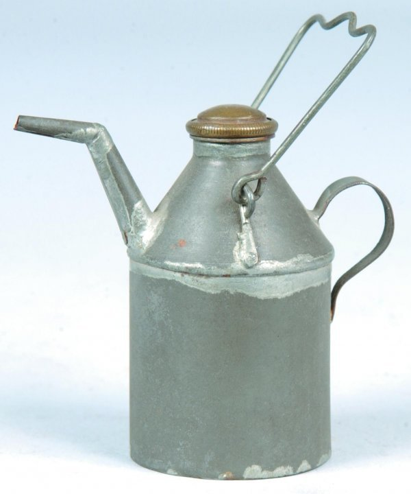 14: Miniature Tin Lamp Filler with shaped spout and mil