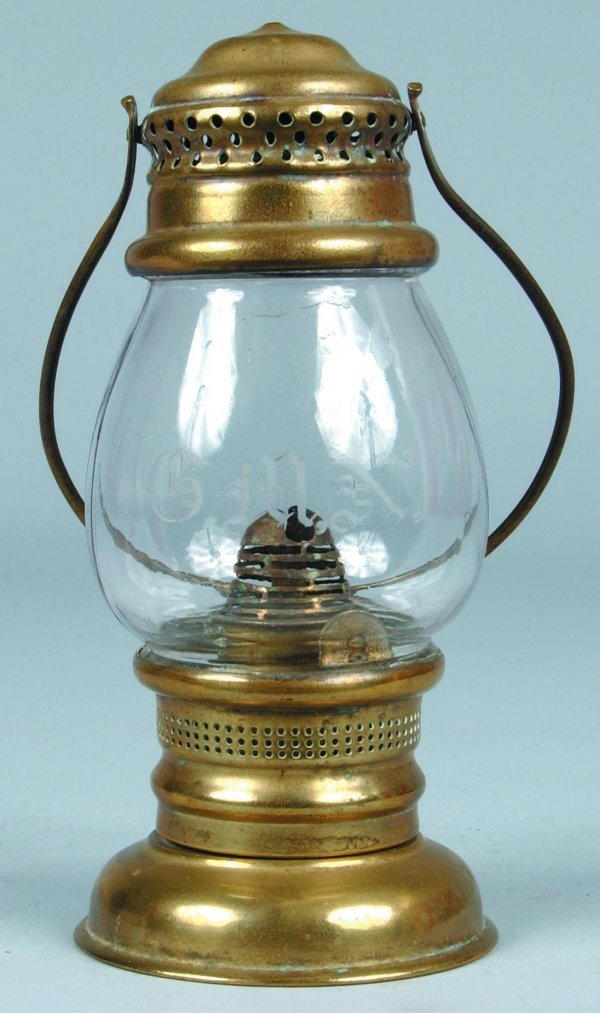 15: Brass Skaters Lantern with swing-bail handle and bu