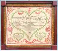 Friedrich Krebs Printed and Illuminated Birth and
