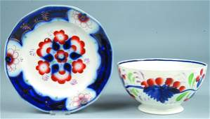 387: Two various Pieces of Gaudy Decorated China; first