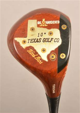 Texas Golf Co. Wood Brothers Persimmon Driver