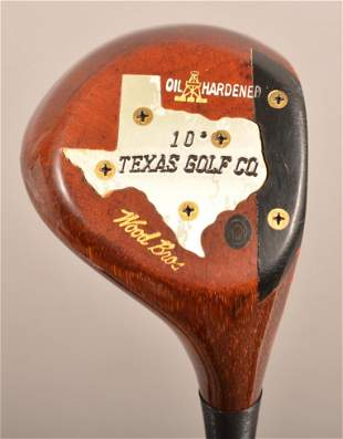 Wood Brothers Texas Golf Persimmon Driver