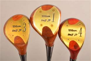 3 Clubs; Wilson Staff Tour Persimmon 1-3-4 Woods