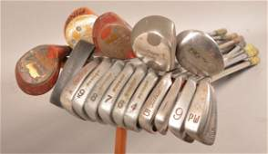 Lot of Various Vintage Golf Clubs