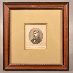 19th Century Steel Plate Engraving of Gentlemen