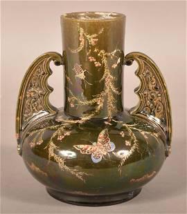 Glazed Art Deco Pottery Vase