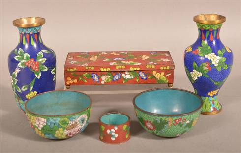 Grouping of Chinese Cloisonne