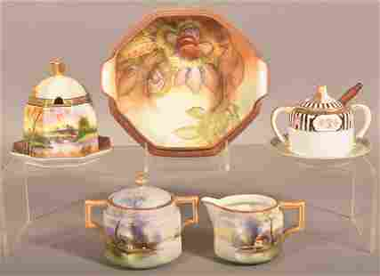 Lot of Noritake and Nippon Hand Painted Porcelain