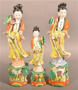3 Hand Painted Oriental Porcelain Figurines