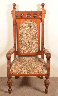 Eastlake Victorian Carved and Molded Armchair