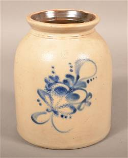 1-1/2 Gallon Stoneware Jar Attributed to Ottman Bros.