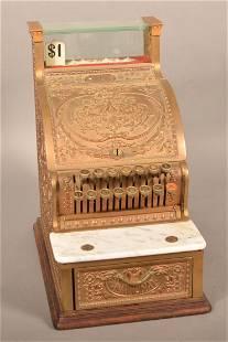 Antique Brass National Cash Register Model 313.
