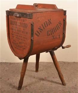 """Union Churn No. 1"" Wood Butter Churn."
