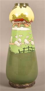 Royal Doulton Hand Painted Porcelain Vase with Sheep.