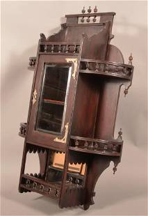 Eastlake Victorian Carved and Molded Wall Shelf.