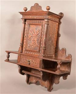 Victorian Ornately Carved and Molded Wall Shelf.