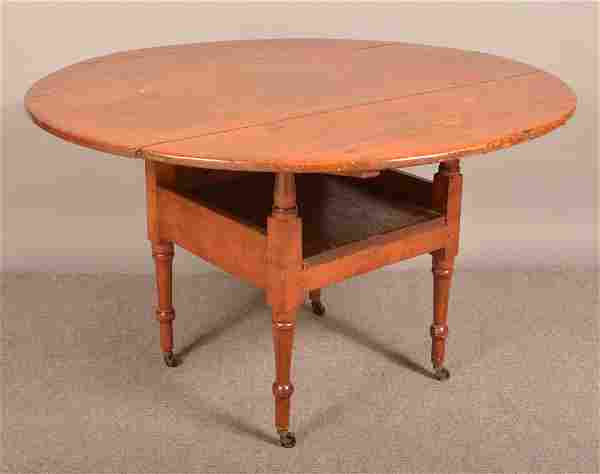 Pennsylvania Sheraton Mixed Wood Hutch Table.