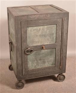 Antique Cast Iron Safe with Key.