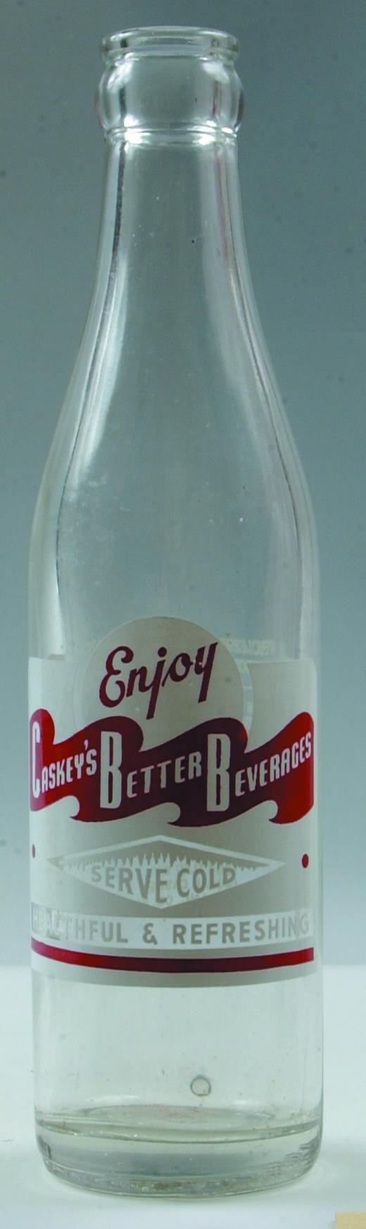 13: Caskey's Better Beverages clear crown top soda bott