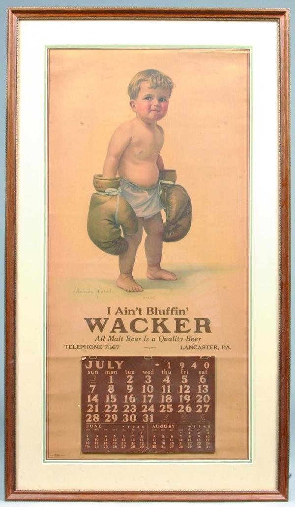 424: Very Good Wacker, Lancaster, Pa 1940 Printed Adver