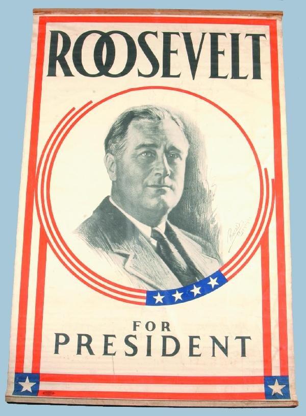 106: Roosevelt (F.D.) for President Political Banner ha