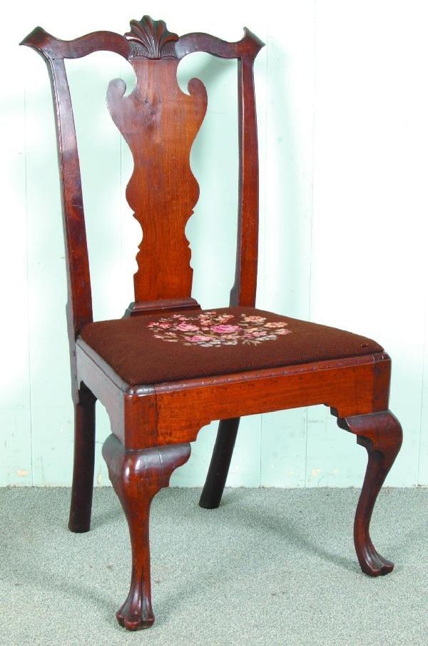 222: Very Fine Philadelphia Queen Anne Walnut Side Chai