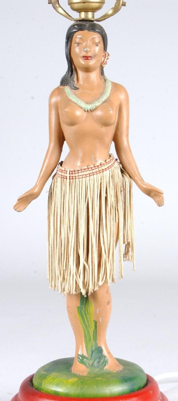 717: Hula Girl Figural Table Lamp with dancing motions, - 3