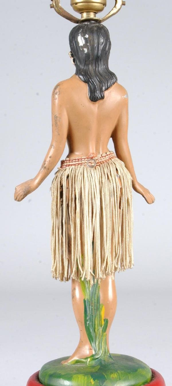 717: Hula Girl Figural Table Lamp with dancing motions, - 4