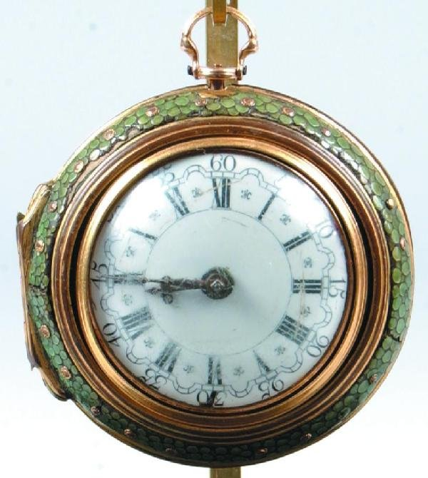 748: Fine and Rare Mid 18th Century English 18kt Gold P