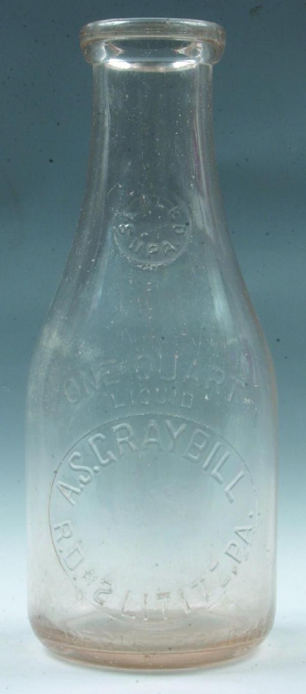 14: A.S. Graybill, Lititz, PA Milk Bottle