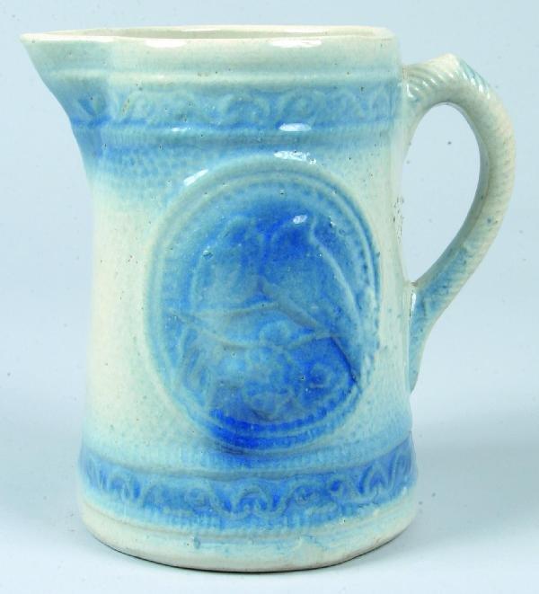 367: Blue Decorated Salt-Glazed Stoneware Pottery Pitch