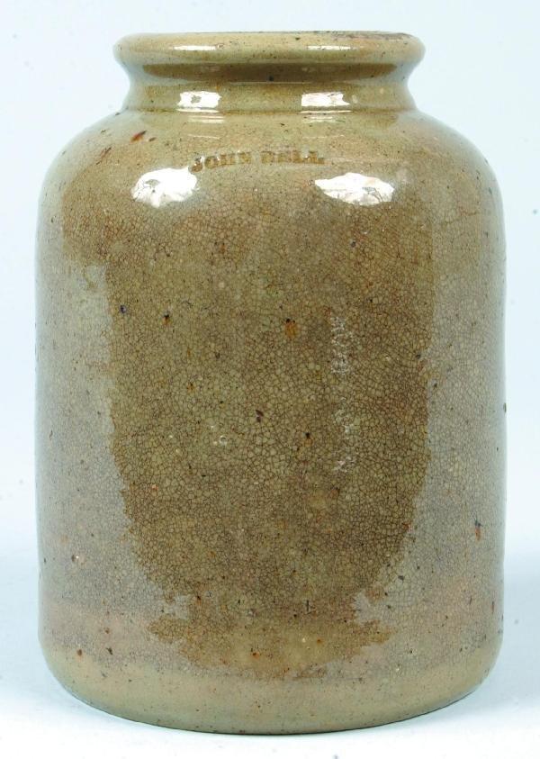 368: John Bell Salt Glazed Stoneware Pottery Storage Ja