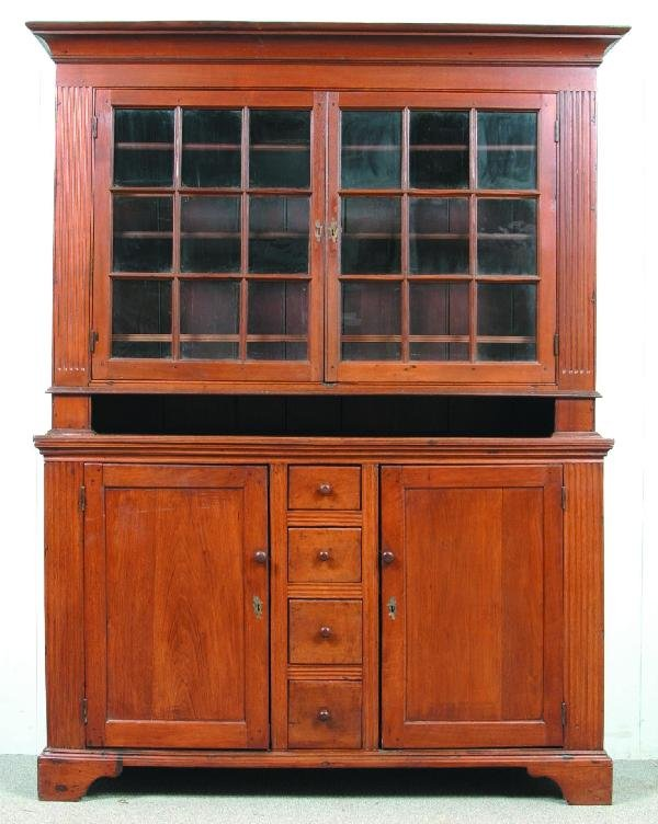 705: Lancaster County, PA Chippendale Walnut Two-part D