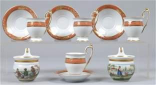 96: Set of Four 20th Century Porcelain Demitasse Cups a