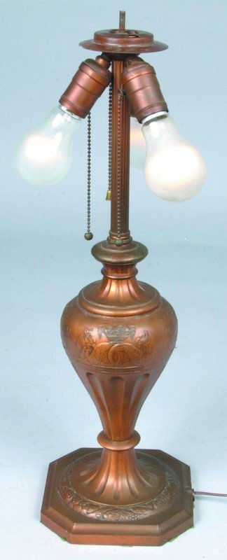 230: Pairpoint Table Lamp with Reverse Painted Egyptian - 4