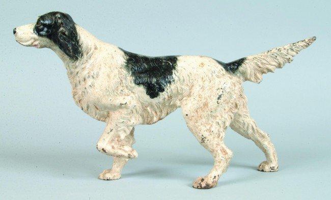 3: Hubley Cast Iron Setter Dog Doorstop. Pointing posit