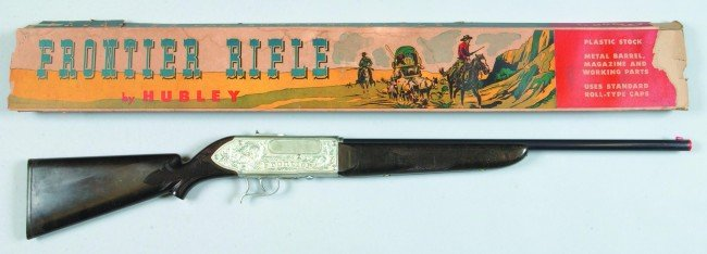 """8: Hubley Frontier Rifle with Original Box. 35"""" long. C"""