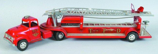 "11: Tonka No. 5 Aerial Ladder Truck decal ""T.F.D."". 31"