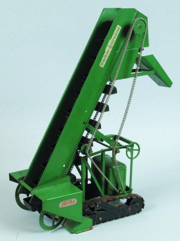 12: Model Toys Barber Greene Press Steel Bucket Loader.
