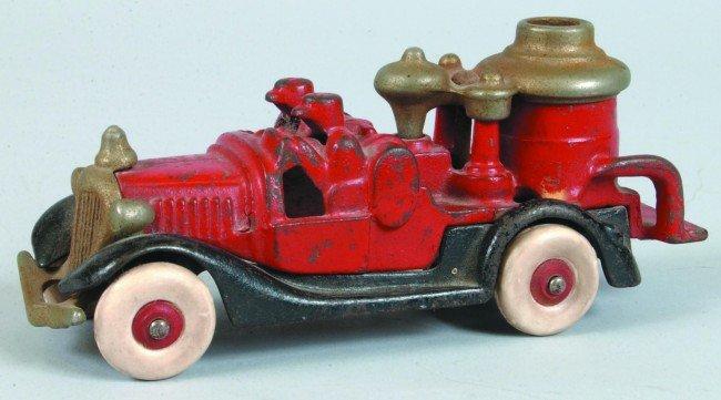 15: Hubley Cast Iron Fire Pumper Truck with original re