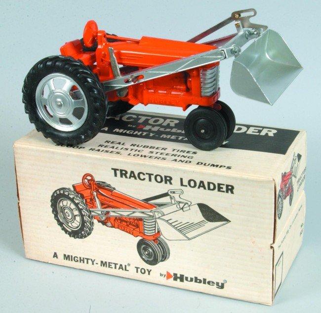 22: Hubley No. 501 Die Cast Tractor Loader with orange