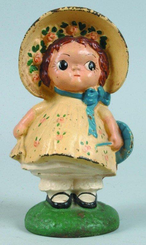 24: Sunbonnet Sue (Dolly Dimple) Cast Iron Still Bank w