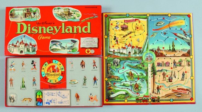 88: Transogram Disneyland Game a board game featuring D