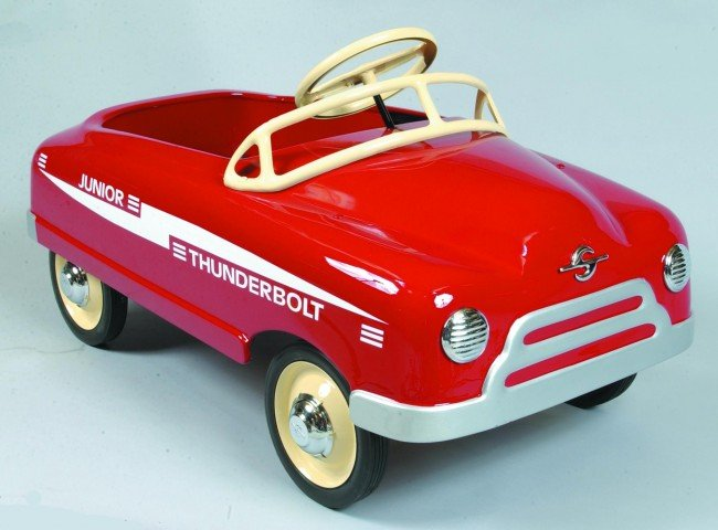 98: 1952 BMC Thunderbolt Junior Pressed Steel Pedal Car